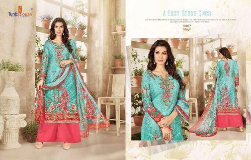 5519e6cf05 Kasturi-2 Digital Print Cotton Embroidery Suit (Set Of 8), Rs 1295 ...