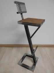 Industrial Metal And Wooden Bar Stool Chair