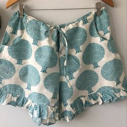 Ladies Cotton Printed Shorts