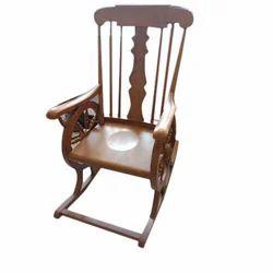 Wooden Armrest Rocking Chair