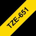 Brother TZe-651 Labelling Tape Cassette Black on Yellow, 24mm x 8m