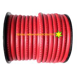 Red Stitched Nappa Leather Cord