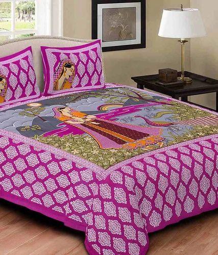 598326cc27d Pure Cotton Multicolor Rajasthani Cotton Bed Sheet
