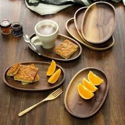Brown Wooden Serving Plate, Size: 10*8 inch