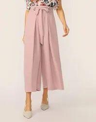 Plain Casual Wear Ladies Culottes