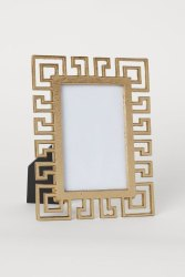 Golden Photos Frame for Decoration, Size: 4x10 inch