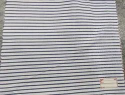 White Cotton Striped Shirting Fabric