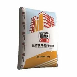 White Building Coating Berger Home Shield Waterproof Wall Putty, Packing: 20 Kg