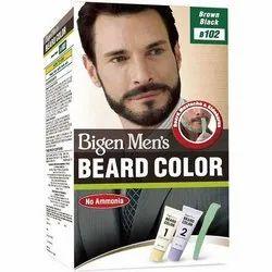 Beigen Brown, Black Bigen Mens Beard Color, For Personal, Parlour, Box