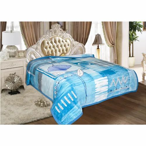 Signature Printed Sig. Opera Multicolor Single Bed Blanket, Packaging Type: Box, Weight: 2 Kg