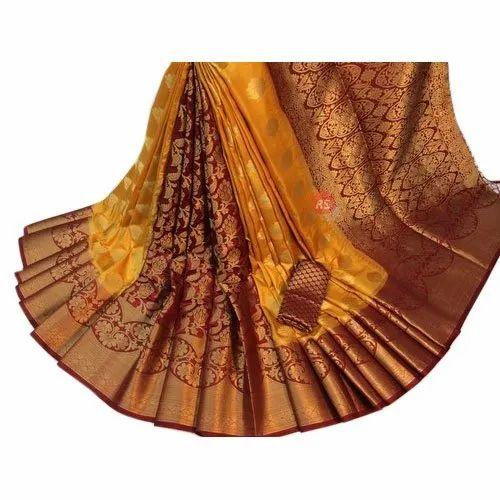 Heavy designer party wear saree with reach pallu saree woowen silk saree