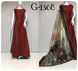 Trendy Silk Gown