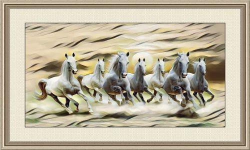 Seven Horses Painting As Per Vastu At Rs 2840 Piece Horse