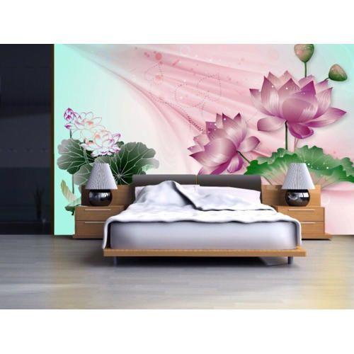 PVC Printed Bedroom 3D Wallpaper