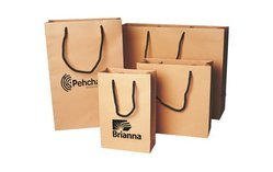 Printed Handled Brown Paper Bag, Capacity: 1 to 3Kg, for Shopping