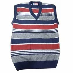 Men Striped Sleeveless Sweater