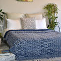 Single Bed Hand Block Printed Bed Cover