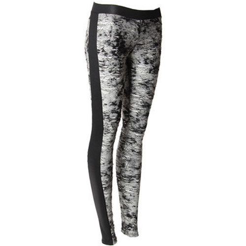 4e88d10dd208f8 Black And Grey Cotton Lycra Ladies Designer Legging, Rs 125 /piece ...