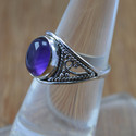 Amethyst Gemstone Jewelry 925 Sterling Silver Ring
