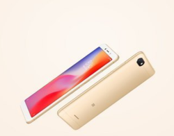 Gold Redmi 6A Phone, Memory Size: 8 Gb
