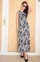 Round Neck Fashion Milk Silk Tunic Dress