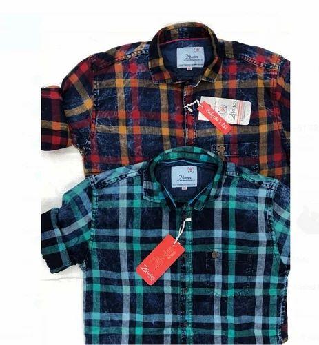 Jeanzzz Export Surplus - Wholesaler of Men Check Shirt & Fancy Men