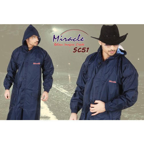 10cbeb93f Grey Green Polyester Mens Blue Plain Industrial Raincoat, Rs 450 ...