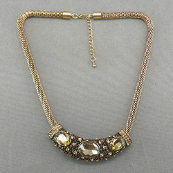 Fancy Gold Plated Western Short Necklace 71600