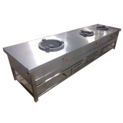 Silver Stainless Steel 9 Feet Kitchen Stove
