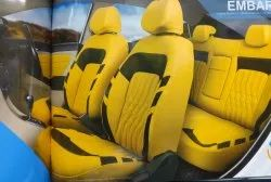 Rexine Front & Back Skoda Yellow Car Seat Cover, Features: Waterproof