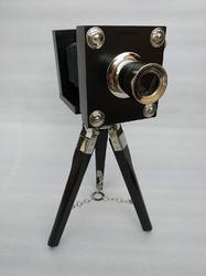 Wooden Tripod Stand Vintage Look Antique Film Camera