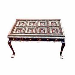 Rectangular Decorative Wooden Table, For Restaurant