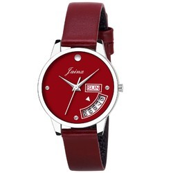 Women Red Wrist Watch