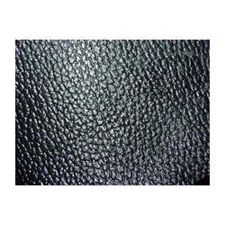 Glossy Plain Black Finished Leather, for Garments and Bags