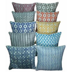 Hand Block Kantha Cushion Covers