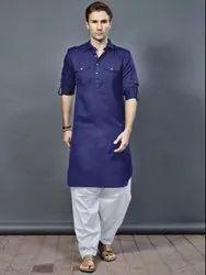 Medium Plain Men''s Pathani Suit, Size/Dimension: Large