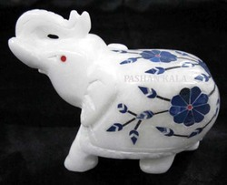 Marble Inlay Elephant