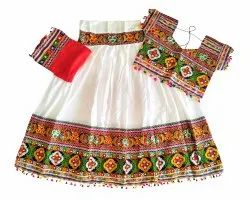 White Women's Special Rayon Chaniya Choli - Navratri Garba Dance Costume