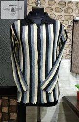 Blue-x Acrylic Woolen Coat