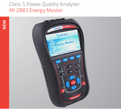Usb Optional Metrel MI 2883 Energy Master Class S Power Quality Analyser, For Industrial, 1000 V