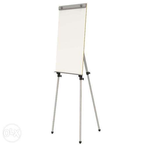 Nickel gray and white flipchart easel with whiteboard rs 2950 unit