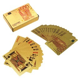 Gold Foil Playing Cards Euro