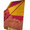 Pure Silk Embroidered Jamdani Silk Saree, 5.5 M (separate Blouse Piece)