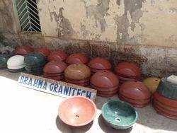 Round Plain marble vessel sinks