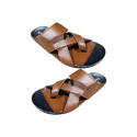 Mens Brown Leather Slippers, Size: 6-14