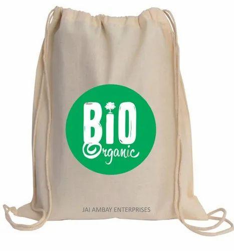Double Drawstring Cotton Bags