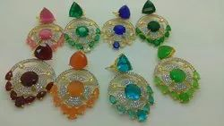 Colour Stone C.Z. Earrings