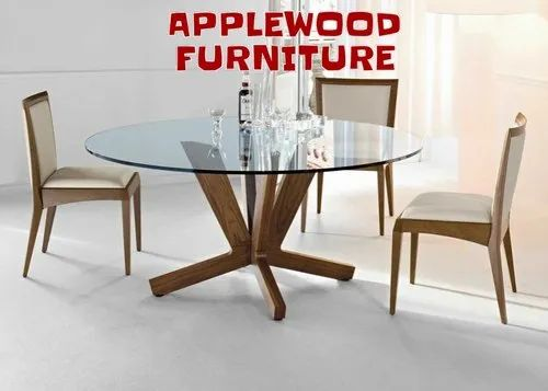 Wooden Round Dining Table Set For Home Size Dimension Standard Id 22465548333