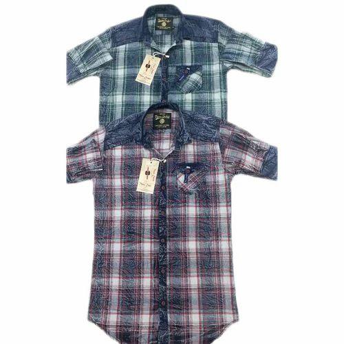 e6743b80 Cotton Casual Wear Mens Casual Check Shirt, Rs 355 /piece | ID ...