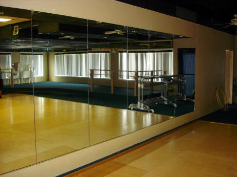 Wall Mirrors For Gym gym wall mirror at rs 200 /square feet | wall mirror - saify glass